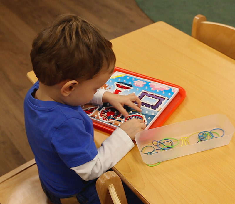 Young Student Doing Montessori Activity