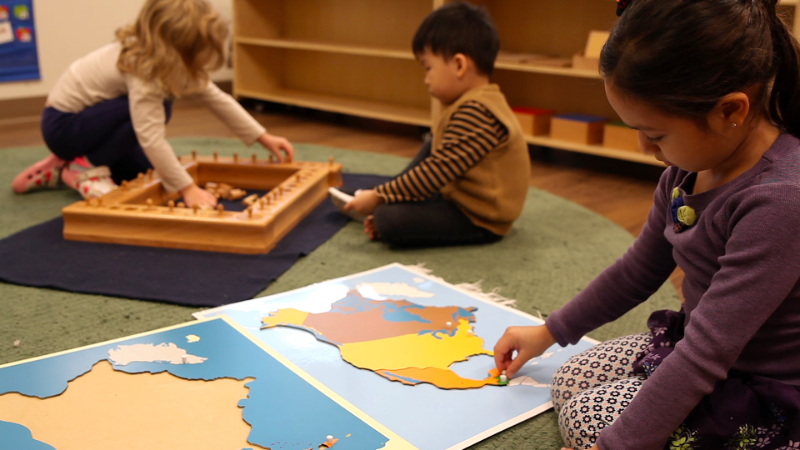 Kindergarten Students Playing